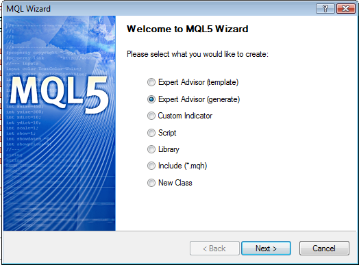 How to Create a Simple Forex EA Using the MetaEditor Wizard