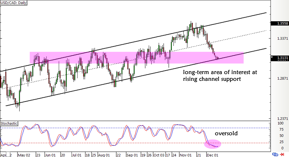 Usd Cad Daily Forex Chartusd Chart