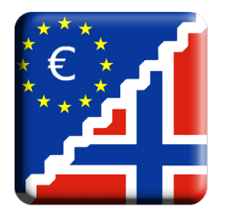 1 nok til euro