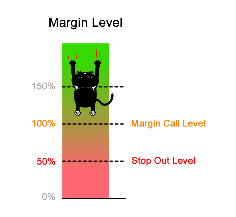 Margin Call Level 100% Stop Out Level 50%