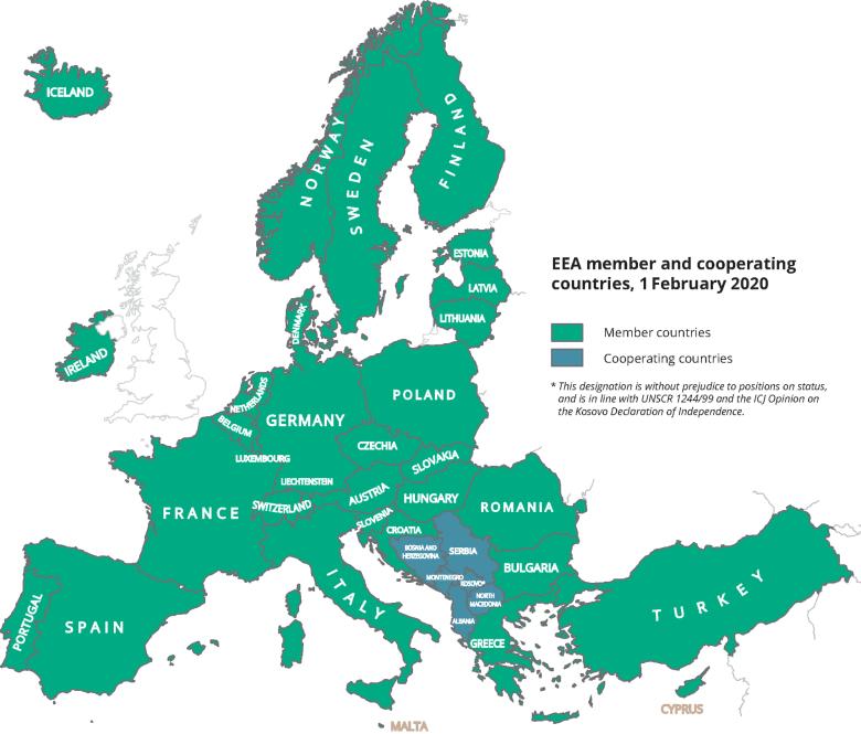 European Economic Area (EEA) Map